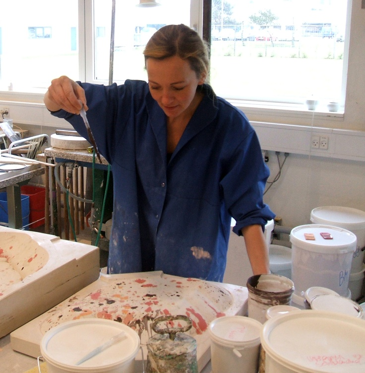 Louise Campbell making Splatterplatters at Royal Copenhagen