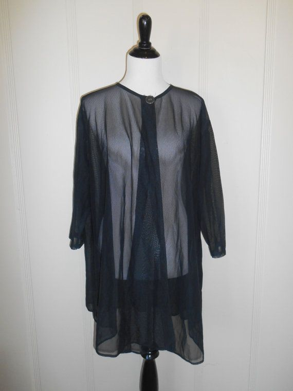 Vintage 90's sheer  swimsuit swim cover up   by ATELIERVINTAGESHOP