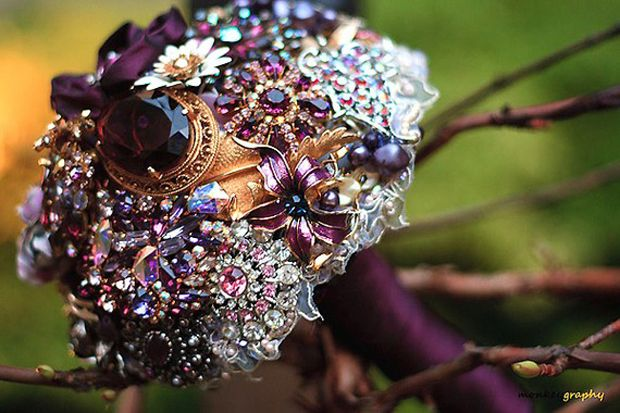 jewel bouquet instead of flowers