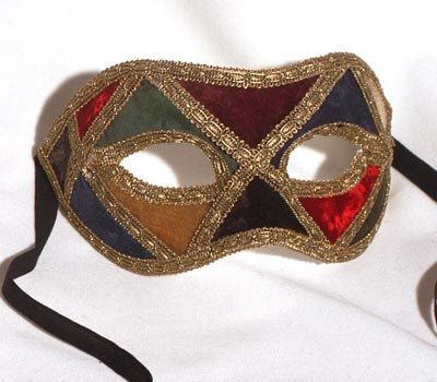 Checkered colored Harlequin Venetian Mask for by AtelierMaregaMask