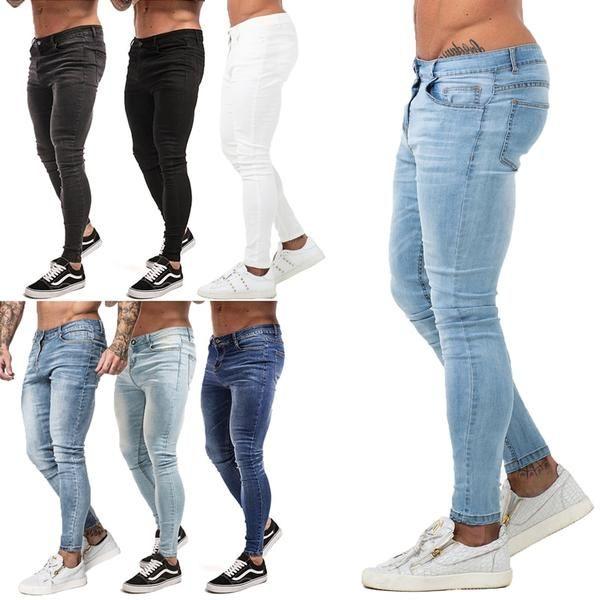 Mens Skinny Jeans Super Skinny Jeans Men Non Ripped Stretch Denim