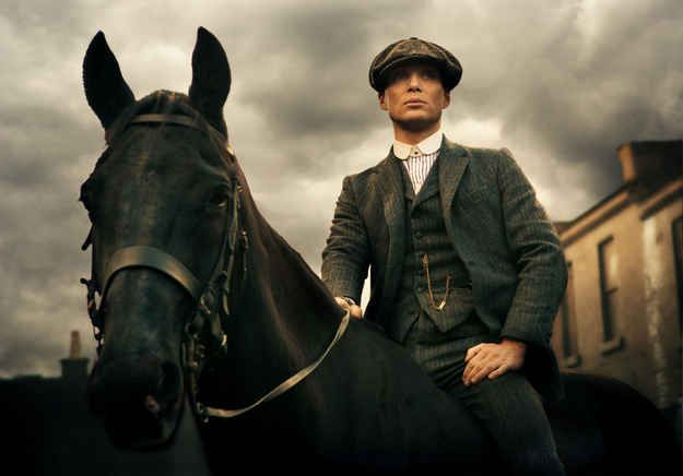 'Peaky Blinders' A British gangster saga set in 1920s Birmingham - great viewing and Cillian Murphy with his fine features is of course making it even better.