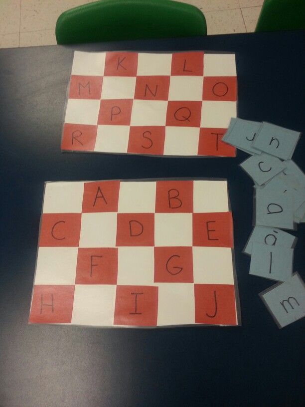Picnic blanket ABC lowercase and uppercase matching game.  Add a timer and see how fast students can match their letters.