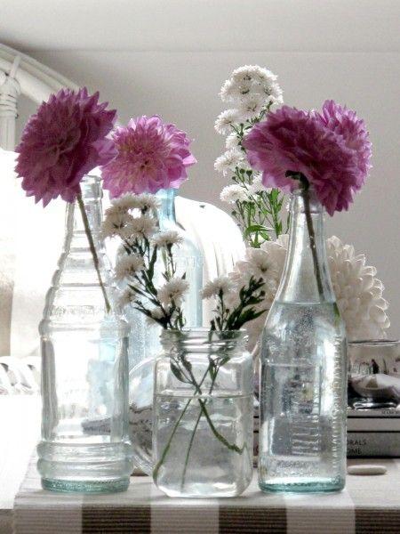 bottles: Summer Beaches, Color, Summer Cottages, Flessen Bottle, Bottle Vase, Flowers Bottle, Glasses Jars, Beaches Decor, Beaches Cottages