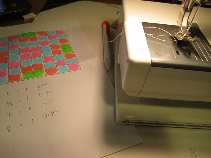 The plan for the quilt, last summer's project.