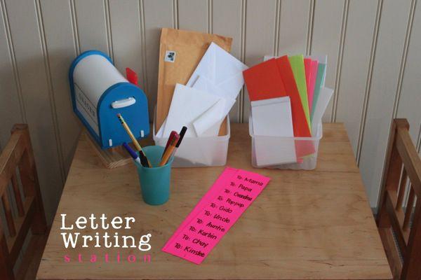 Letter Writing Station | Mama.Papa.Bubba.