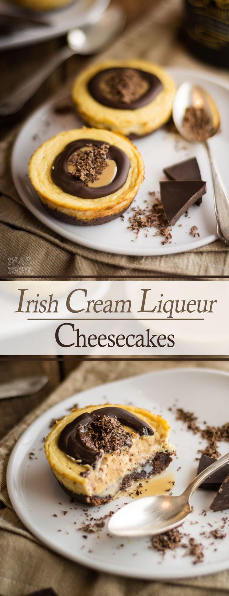 Weihnachtlicher Käsekuchen - Schokoladige Irish Cream Liqueur Cheesecakes