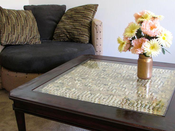 Weekend Diy Alert Wine Cork Coffee Table Re Think Your Furniture Pinterest Cork