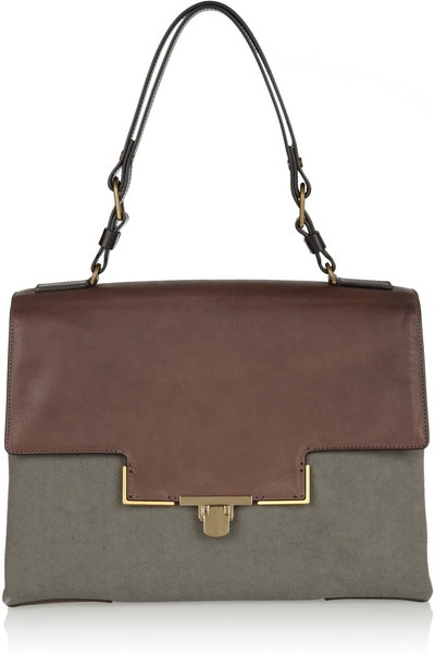 Lanvin  Miss Sartorial Leather and Canvas Bag