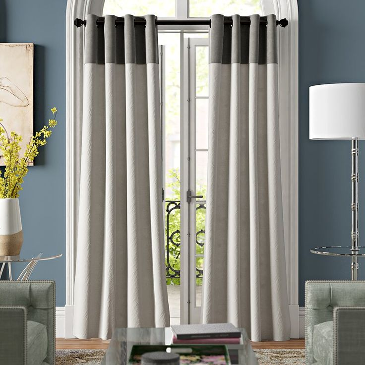 Barrett Solid Semi Sheer Grommet Curtain Panels Grommet Curtains Curtains For Grey Walls Grey Walls Living Room