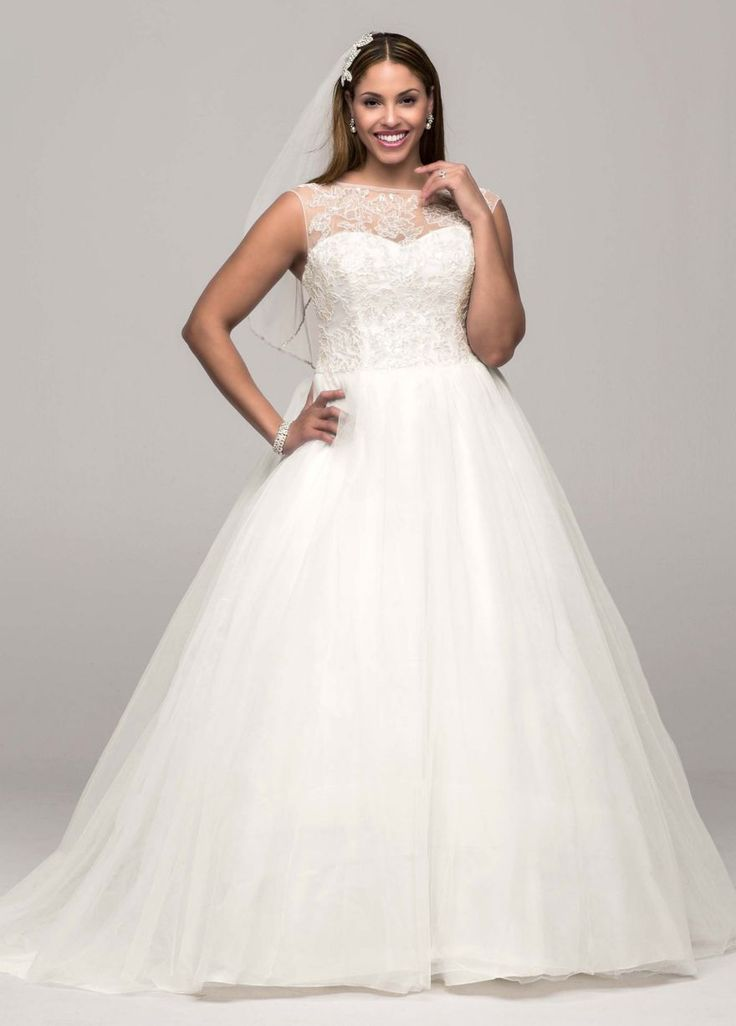 73 best plus size wedding dresses images on pinterest for Wedding dress plus size