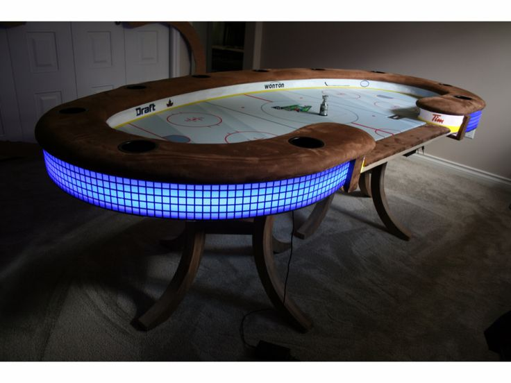 Hockey Themed Custom Poker Table | Stuff To Buy | Pinterest | Custom Poker  Tables, Poker Table And Men Cave