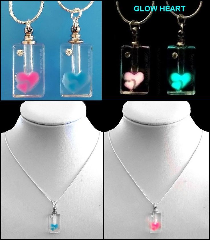 Enjoy Aromatherapy whenever and wherever you like! The glass heart design glows in the dark!  Get the benefit wherever you go with our amazing hand crafted, glow in the dark, glass aromatherapy pendant/bottle on a sterling silver chain.