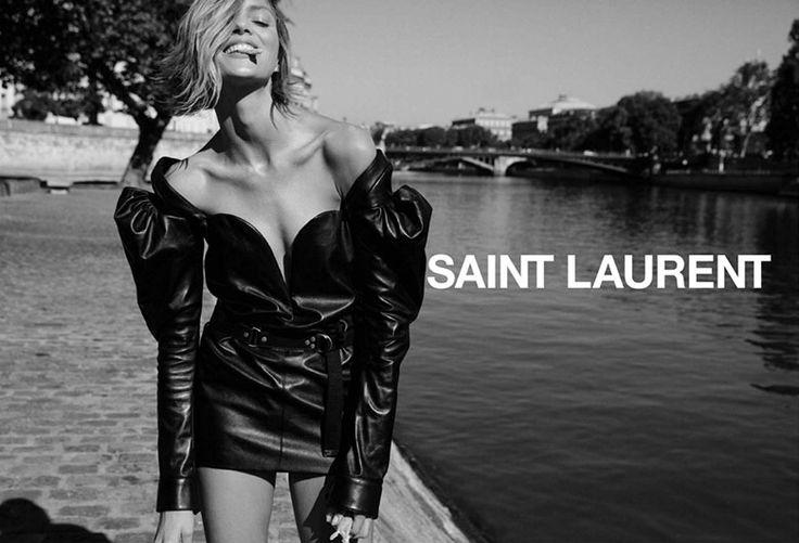 Anja Rubik by Inez & Vinoodh for Saint Laurent F/W 2017 | The Fashionography