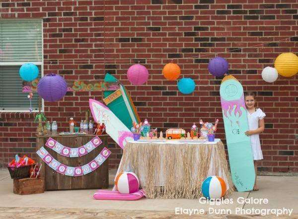 Girl Surfing Surf Soul Surfer Beach Birthday Party Planning Ideas