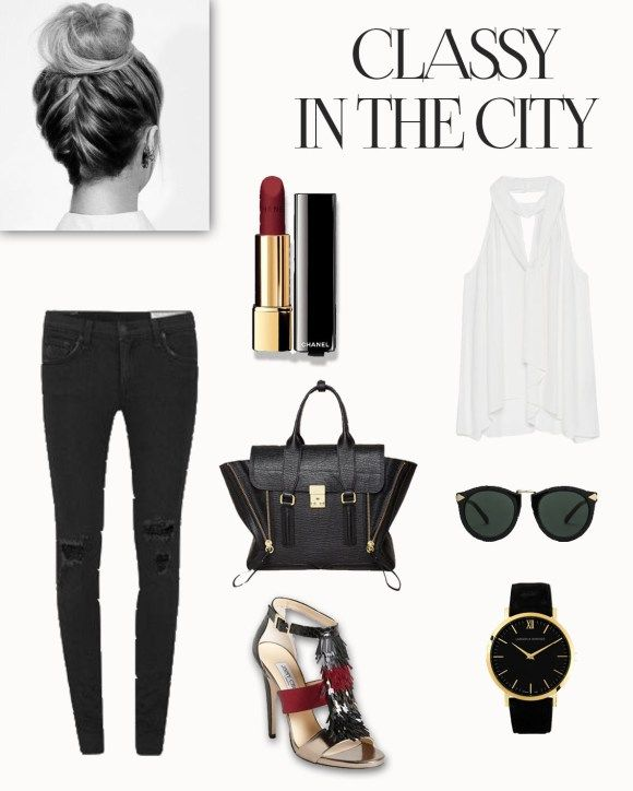 Classy yet somehow casual outfit for a day in the city: shopping, brunch, meetings.