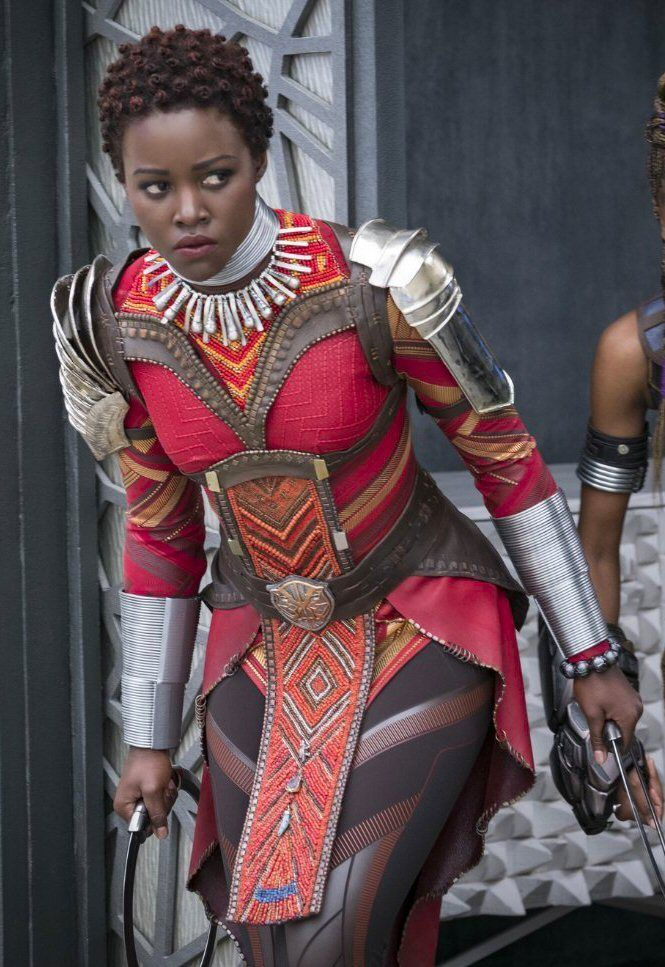 Nakia Lupita Nyong O Red Warrior S Costume Black