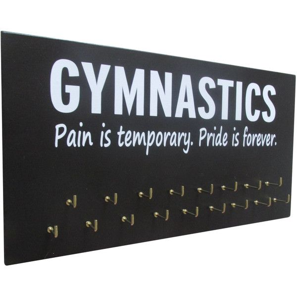Gymnastics Medal Holder Gymnastics Ribbon Holder Gymnastics Gifts... ($25) ❤ liked on Polyvore featuring home, home decor, wall art, black, home & living, home décor, wall décor, wall hangings, word wall art and women picture