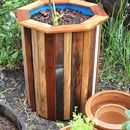 I wanted to build some simple, low cost & attractive containers for a few fruit trees that were ready to be replanted in my backyard.  Using second hand 55 gallon food ...