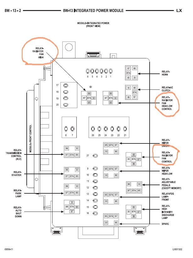 30 Awesome 2005 Chrysler 300 Cooling Fan Wiring Diagram In 2020 Fuse Box Chrysler 300 House Wiring