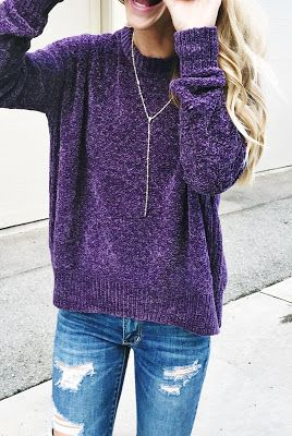 #fall #outfits women's purple crew-neck sweaterwomen's purple crew-neck sweater Source Shop this outfit
