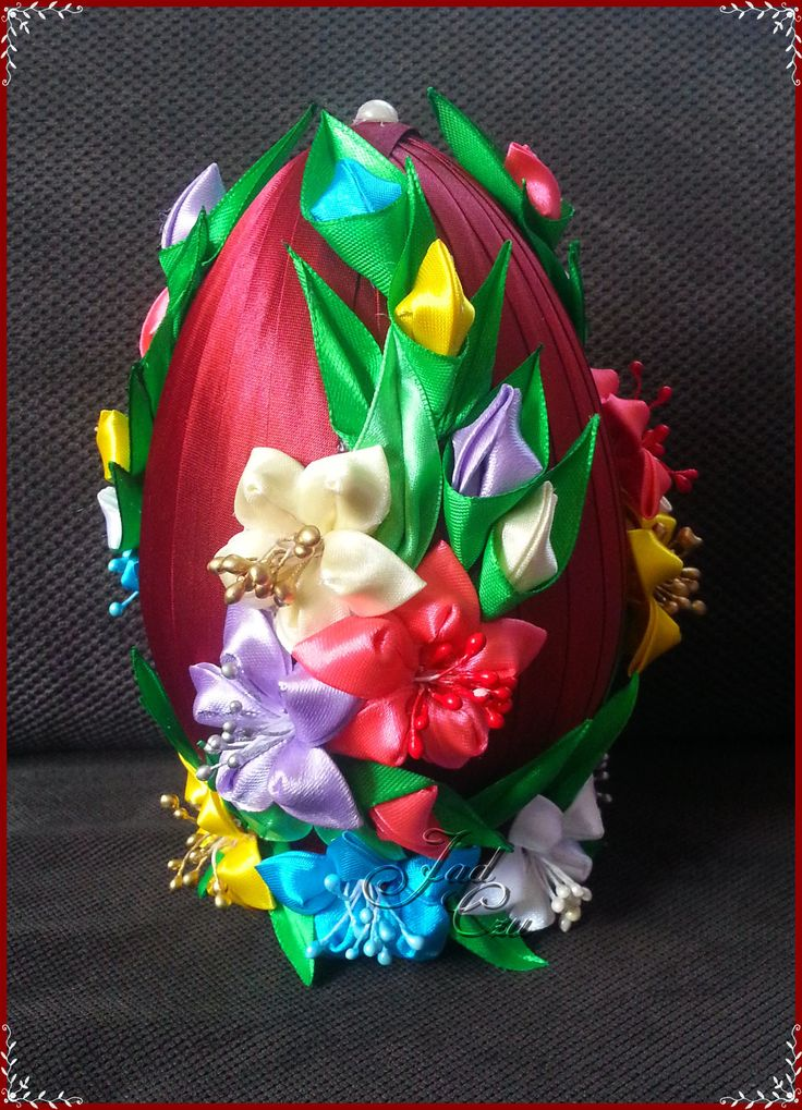 Dekoracyjne jajo wielkanocne - jadczu - Srebrna Agrafka