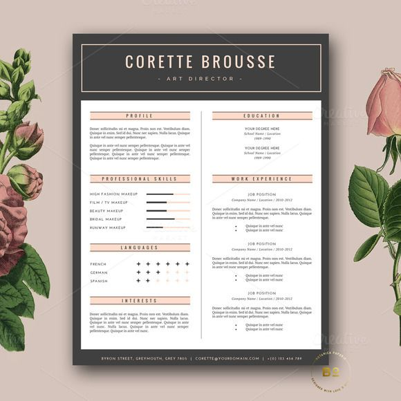 cv template design modern resume by botanica resume templates