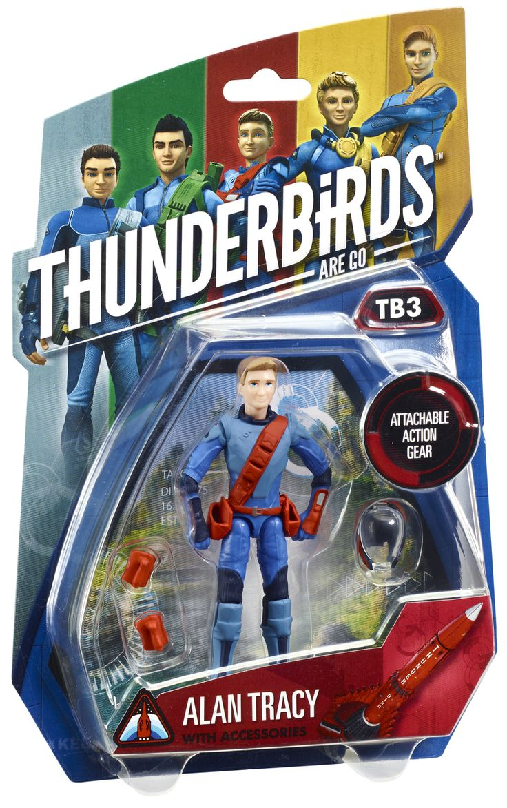 "Thunderbirds 3.75"" Action Figure - Alan Tracy 