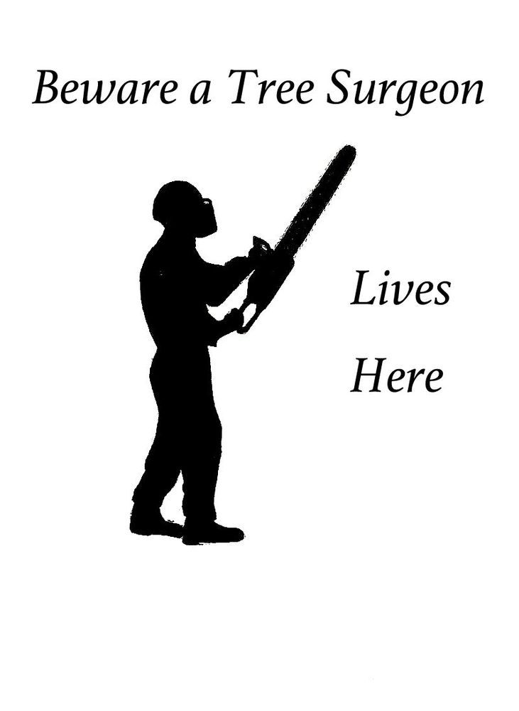 stihl chainsaw logo. beware a tree surgeon a4 signed print of arborist ,tree surgeon stihl chainsaw , logo 1