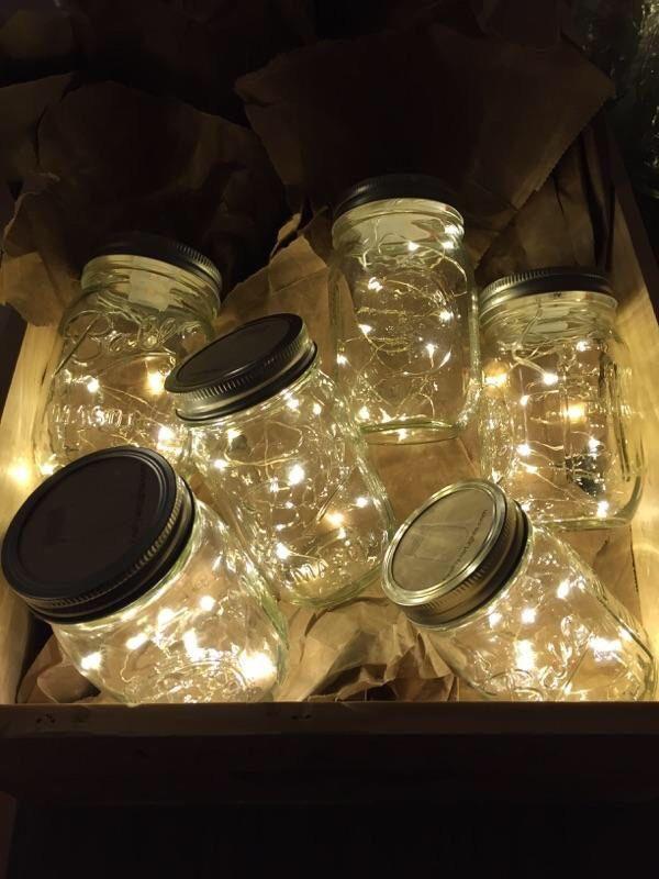 Firefly Lights and Mason Jar, Wedding Lights, Outdoor Lightning, rustic lights, Fairy Lights, Mason Jar Light, Firefly,String Lights von MateriaQuality auf Etsy https://www.etsy.com/de/listing/240619258/firefly-lights-and-mason-jar-wedding