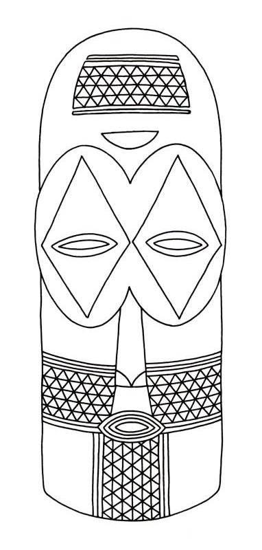 African Mask Clip Art