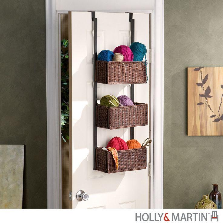 Holly & Martin Hazel Over-the-Door 3-Tier Basket Storage-Espresso