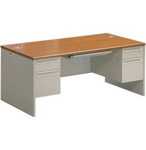 Executive Office Desk, Double Pedestal. Renovating, redecorating or updating your workspace? Hertz Furniture offers a variety of office furniture pieces that will fit your needs and budget. http://www.hertzfurniture.com/office-furniture.html