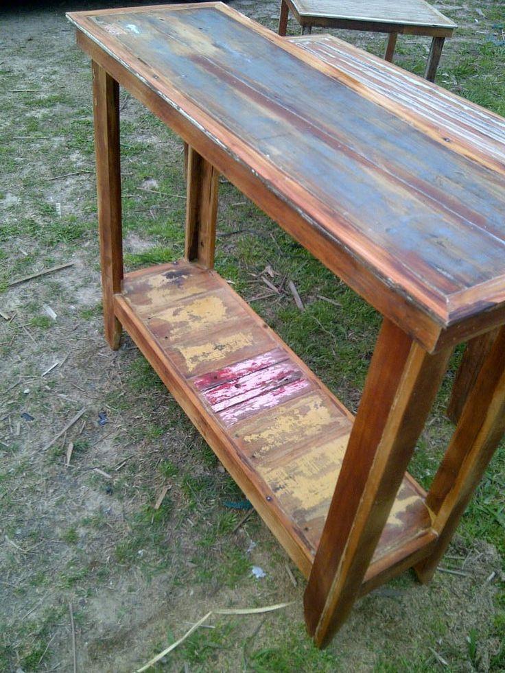 Mesa de arrime madera reciclada 19411 mla7086000450 092014 - Mesas madera reciclada ...