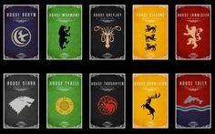 Game of Thrones Wallpapers HD. Los 10 escudos de las principales familias de Juego de Tronos.