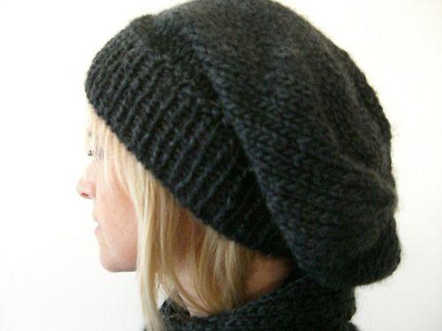 patron tricot bonnet slouch