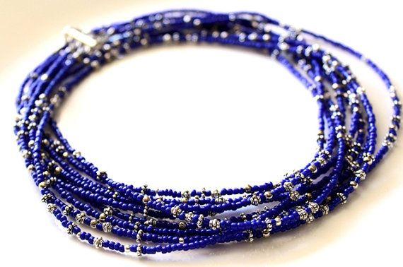 #myVardo #beads #blue #necklace #boho #statement
