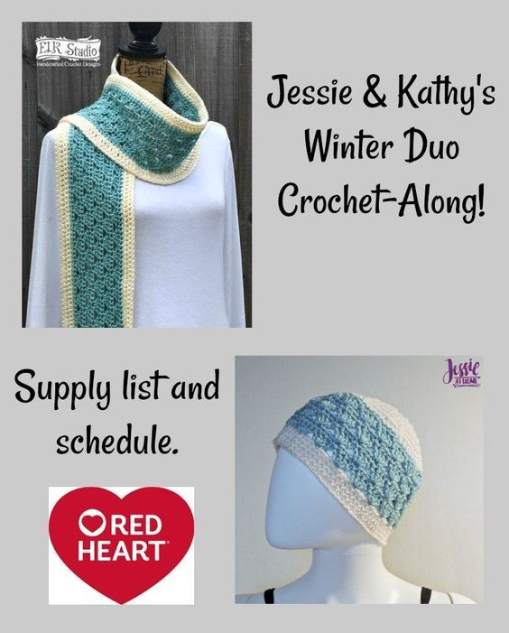 The Winter Duo CAL hosted by Jessie at Home & Kathy Lashley of ELK Studio Handcrafted Crochet Designs. Sponsored by Red Heart yarns w/ a yarn giveaway!.