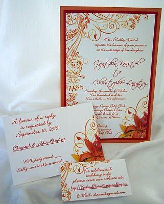 Burnt Orange Wedding Decorations   Beautiful fall shades of burnt orange, dark red and a deep golden ...