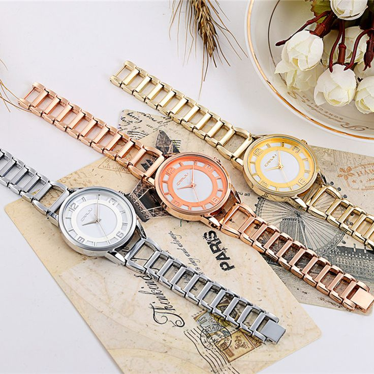CRRJU New Fashion Silver Women Watch Rose Gold Steel Quartz Bracelet Watches Ladies Waterproof Luxury Wristwatch Relojes 2016-in Women's Watches from Watches on Aliexpress.com   Alibaba Group