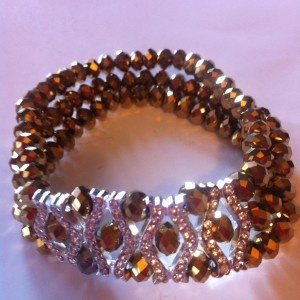 Light-Brown-Crystal-Bead-Bracelet