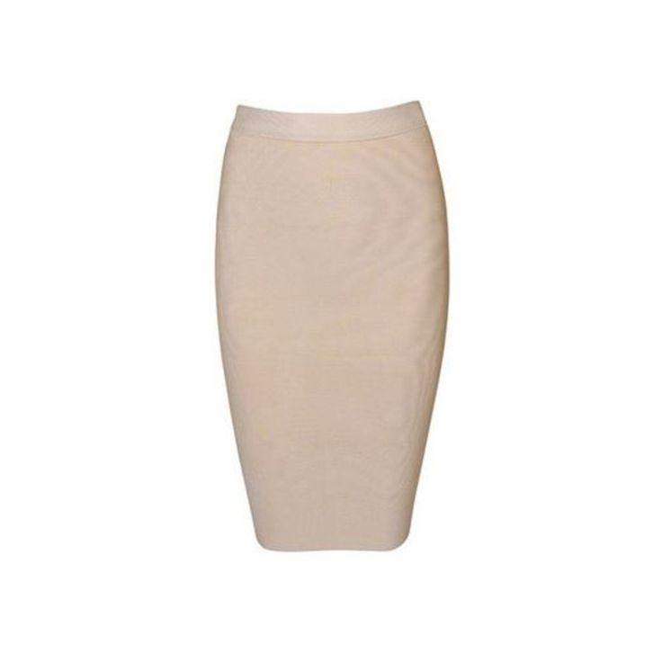 Noodz Boutique - Midi Pencil Bandage Skirt - Nude/White/Red/Grey/Black/Pink