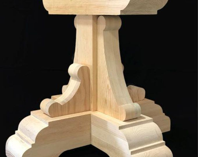Custom Chalice Dining Table Pedestals Individual Leg Etsy In