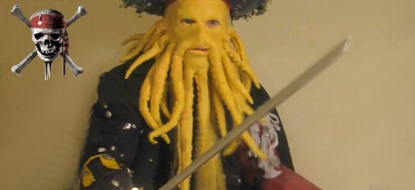 How to make a Davy Jones mask (website in French but tutorial video in English)