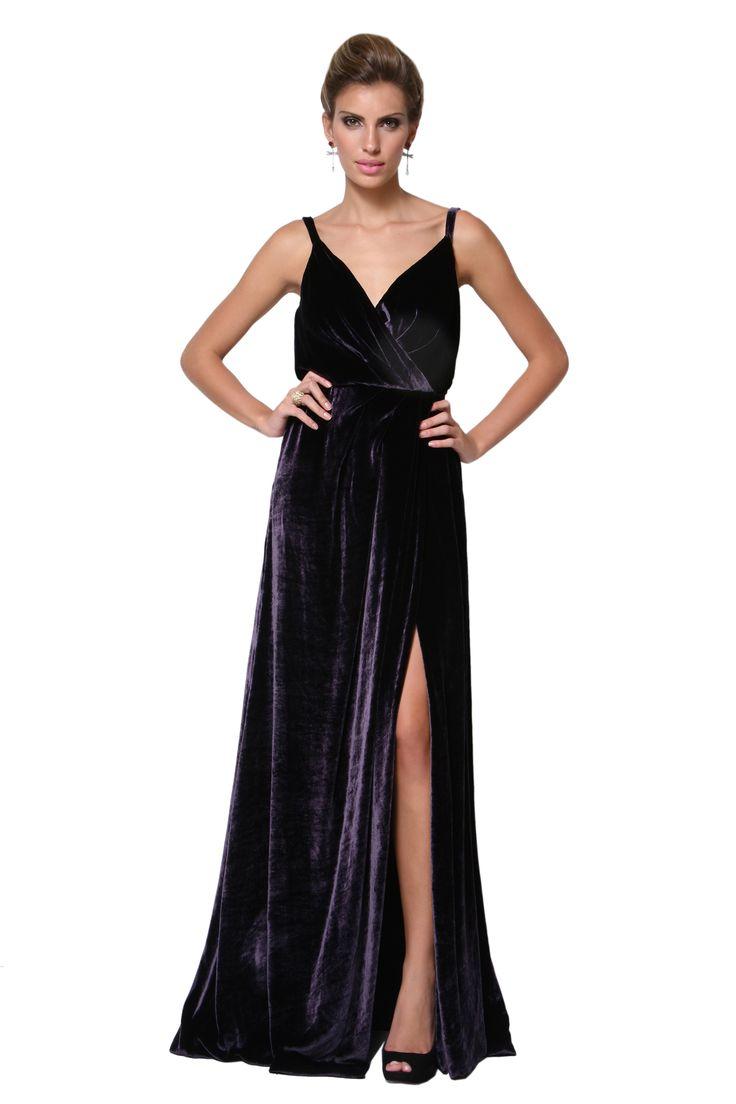 Dress & Go - Aluguel de vestidos de grandes estilistas   Vestido Longo Veludo Seda