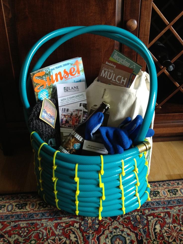Garden hose gift basket great idea from proven winners for Garden hose idea