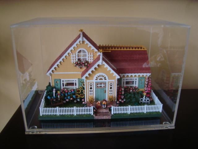 Miniature Mary Engelbreit Dollhouse Diorama by Ferne Simpson 1:48 SOLD on Ebay for $385.00 march 2015