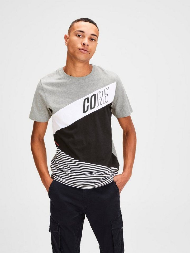 info for 82510 e99f2 Jack & Jones Colour Blocking T-Shirt in 2019 | Tshirt style ...