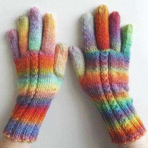 Rukavice pletené - Pastely barevné pletené jemné rukavice merino pastelové prstové ivka