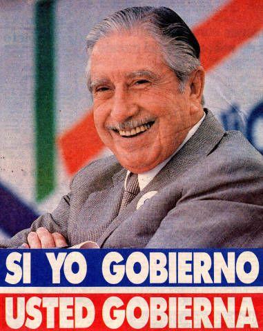 Si yo gobierno, usted gobierna. Campaña del SI, plebiscito de 1988 (Fuente: http://econtent.unm.edu/cdm/singleitem/collection/LAPolPoster/id/3938/rec/309)